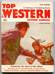 Top Western Fiction Annual 1958-PULP-Louis L'Amour- Overholser