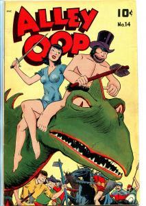 Alley Oop #14 1948-Standard-headlights-dinosaur cover-FN+