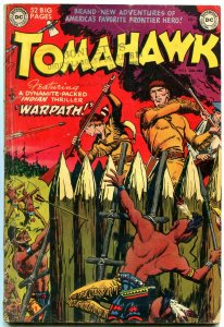 TOMAHAWK #3 1950- DC WESTERN - INDIAN ATTACK- GOLDEN AGE vg