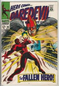 Daredevil # 40 Strict VF/NM High-Grade The Unholy Three Artist Gene Colan