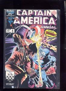 Captain America Annual 8  VF/NM Wolverine appearance!