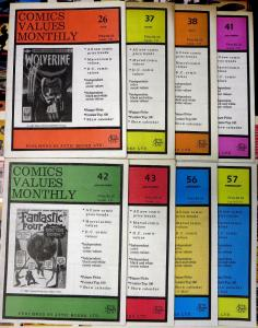 COMICS VALUES MONTHLY #s 26 37-38 41-43 56-57 | Lot of 8 issues 1988-1991 F-VF