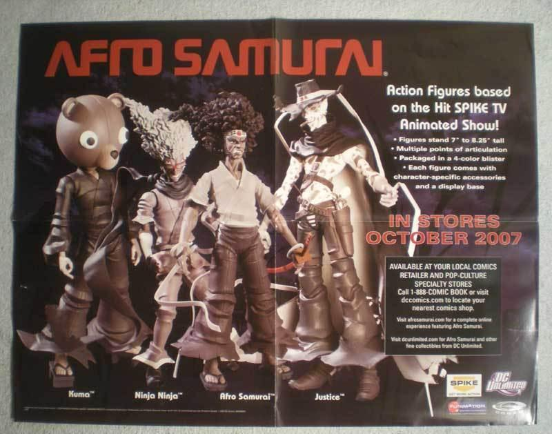 AFRO SAMURAI Promo Poster, 22x17, 2007, Unused, more in our store