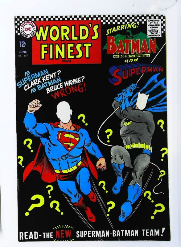 World's Finest Comics #167, VF- (Actual scan)