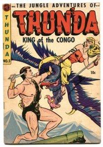 Thunda #5 1943- Golden Age jungle comic VG+