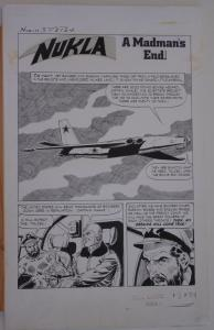 DICK GIORDANO / SAL TRAPANI  original art, NUKLA  #3, pg 24, 14x23, Dell, 1966