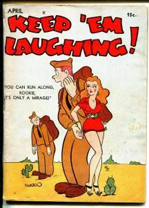 Keep 'Em Laughing! #4 4/1943-WWII era-comics-gags-cartoons-Munson-Houlihan-VG