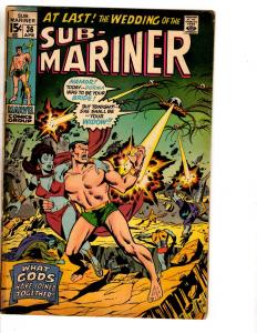 Lot Of 4 Prince Namor Sub-Mariner Marvel Comic Books # 36 37 38 39 VG Range RH2