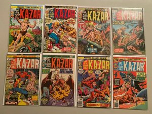 Ka-Zar lot 11 different from #1-20 avg 4.0 VG #1 is 6.0 FN (1974 2nd Series)