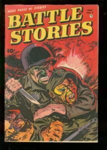 BATTLE STORIES #8 1953-FAWCETT-EXTREME VIOLENCE-HIGH GR VF
