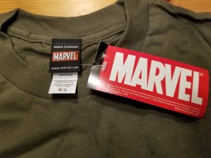 Hulk Frustration Military Green T-Shirt L NOS w/ Tags  Marvel