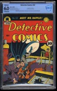Detective Comics #63 CBCS FN 6.0 Off White to White (Restored)