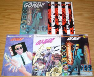 Go-Man! #1-4 VF/NM complete series + preview - cyberpunk comics - bill widener