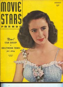 Movie Stars Parade-Elizabeth Taylor-Burt Lancaster-Cary Grant-Aug-1947