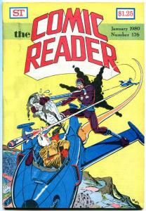COMIC READER #176, VF+, Steve Ditko, Machine Man, Fanzine, 1980, more in store