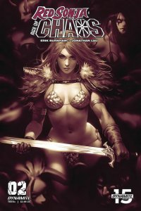 RED SONJA AGE OF CHAOS (2019 DYNAMITE) #2 VARIANT 1:25 CHEW MONOCH PRESALE-02/19