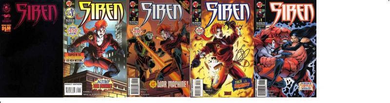 SIREN (1995 MA/UL) 1-3, SP 1, INFINITY  COMPLETE! COMICS BOOK