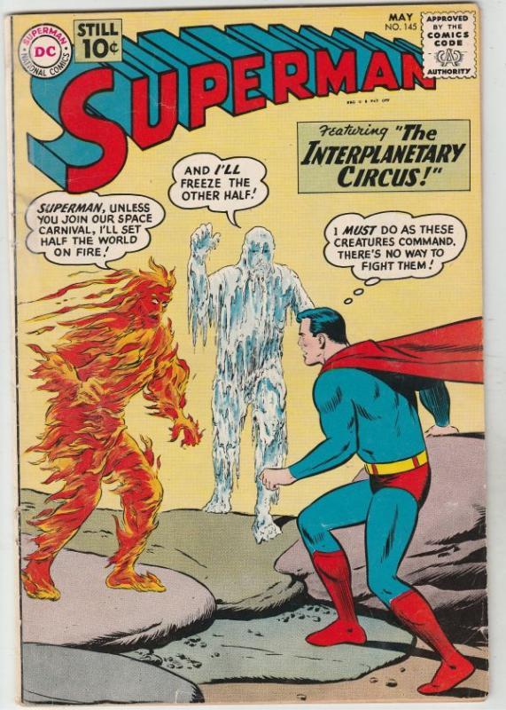 Superman #145 (May-61) VG+ Affordable-Grade Superman, Jimmy Olsen,Lois Lane, ...