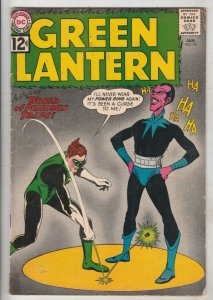 Green Lantern #18 (Jan-63) VG/FN Mid-Grade Green Lantern, Pie Face