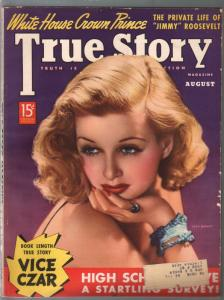 True Story 8/1938-Joan Bennett-Vice Czar-scandal-exploitation-comic art-pulp thr
