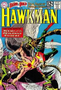 BRAVE AND THE BOLD #42 stock photo 2nd app of the silver age Hawkman. (id002)