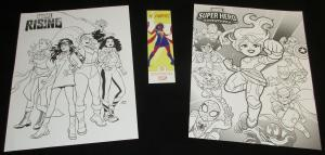Marvel Rising Superhero Adventures Folded 10 x 13 Coloring Posters & Bookmark