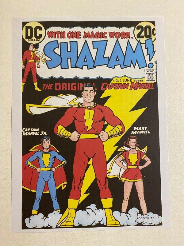Shazam #3 DC Comics poster by C.C. Beck