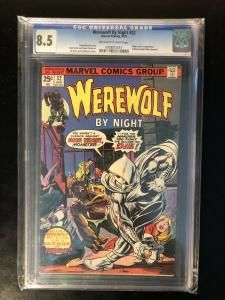 Werewolf By Night #32 CGC 8.5 - Origin & First Appearance Of Moon Knight
