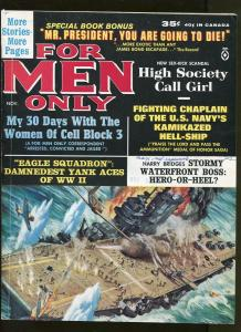 FOR MEN ONLY NOVEMBER 1963-MICHAEL AVALLONE-COPELAND-COHEN-MINNEY-ROSSI-FN+