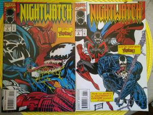Nightwatch (two issue lot) #5 & 6 (1994) Venom appearance