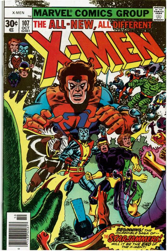 X-Men #107, 8.0 or Better, Signed by Chris Claremont & Dave Cockrum