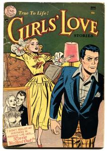 GIRLS LOVE STORIES #17 comic book 1952--ROMANCE-DC WAR COVER-RARE