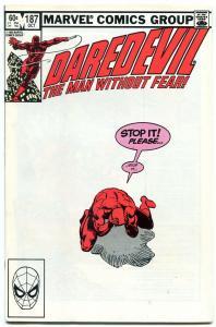 Daredevil #187 1982- Frank Miller-Black Widow- Stick NM