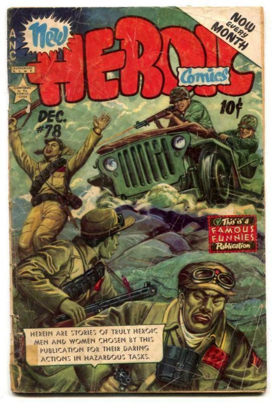 Heroic Comics #78 1952- Jeep cover FAIR