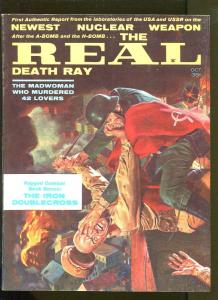 REAL DEATH RAY OCTOBER 1961-NUCLEAR WEAPON-TORTURE-CIVIL WAR-CHEESECAKE-FN/VF