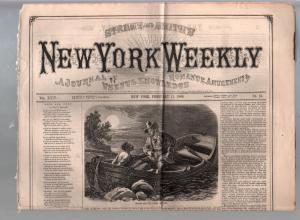 New York Weekly-Dime Novel-Story Paper #13 2/11/1869-pulp fiction-G