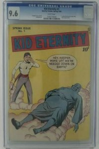 Kid Eternity #1~ 1946 Quality Comics/ DC~ CGC 9.6 (NM+) ~ 1st Kid Eternity Title