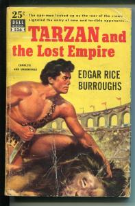 Tarzan and The Lost Empire #536 1950's-Dell-Edgar Rice Burroughs-Map Back-G/VG