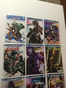 Suicide Squad Rebirth 1 1 2 3 4 5 6 7 8 Variant Set Nm Near Mint IK