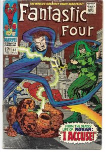 Fantastic Four #65 Marvel 1967 1st appearance Ronin Accuser Stan Lee Jack Kirby
