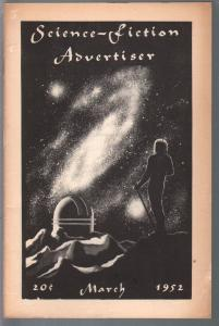 Science-Fiction Advertiser 3/1952-early fanzine-A.E. Van Vogt-FN---