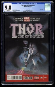 Thor God of Thunder #6 CGC NM/M 9.8 White Pages 1st Knull!