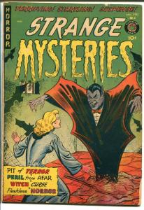 STRANGE MYSTERIES #3 1952-CITED IN SOTI-VAMPIRE-SPICY-PRE-CODE HORROR-vg/fn