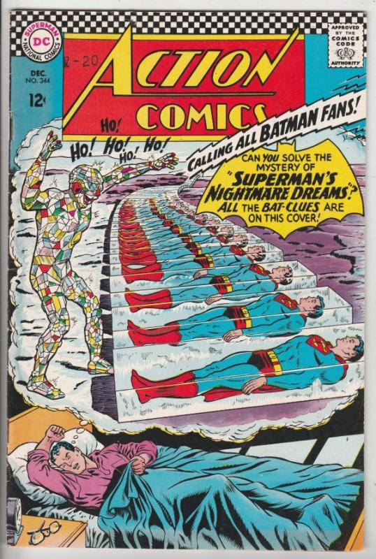 Action Comics #344 (Dec-66) VF/NM High-Grade Superman, Supergirl