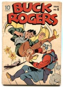 Buck Rogers #6 1943- Rare golden age comic- VG-