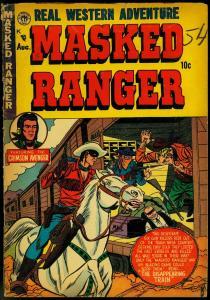 MASKED RANGER COMICS #3 1954 PREMIERE CRIMSON AVENGER VG