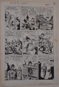 JOHN CELARDO original art, EXCITING WAR #5, pgs 1 2 3 4 5 6 7, 1952, Korean War