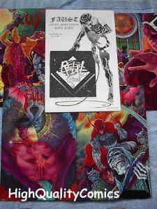FAUST PORTFOLIO Set 2, NM, Tim Vigil, Good Girls, Femme Fatale, 1994, Signed