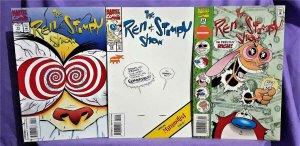 Dan Slott THE REN & STIMPY SHOW 3 Pack Ken Mitchrowey (Marvel, 1993)!