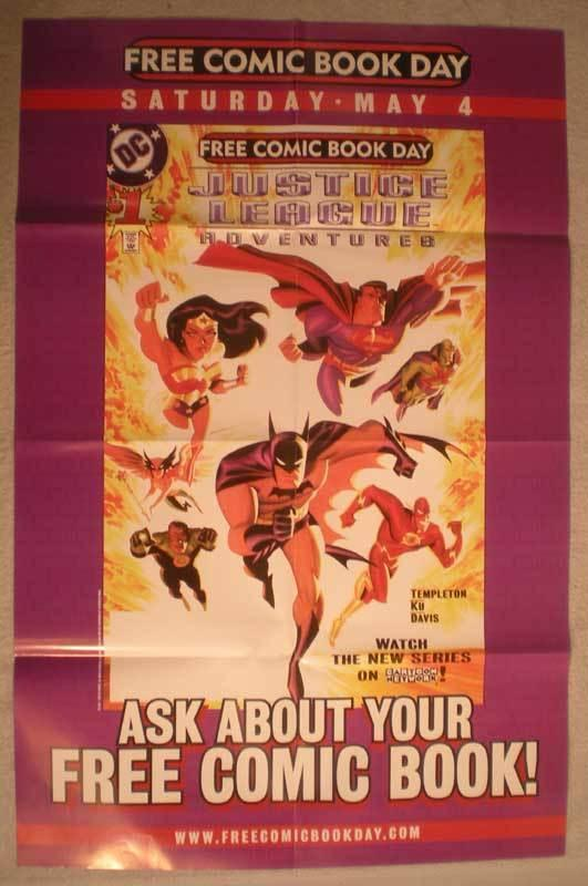 JUSTICE LEAGUE ADVENTURES Promo Poster, 22x34, Unused, more Promos in store